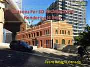 Reasons for 3D Architectural Rendering is Best