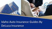 Idaho Auto Insurance Guides, Laws and Requirements  DeLuca Insurance