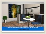 BEST INTERIOR DESIGN COMPANIES IN DELHI NCR