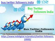 Here you can buy twitter followers india