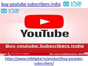 How to buy genuine youtube subscribers in india