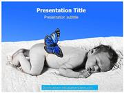 Sleeping babies Powerpoint Templates