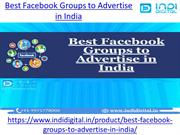 Best Facebook Groups to Advertise in India