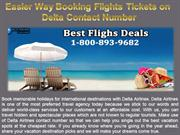 Easier Way Booking Flights Tickets on Delta Contact Number