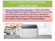 Canon Printer Phone Number +1-855-536-5666