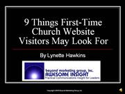 9 Things First Time Church Website Visit