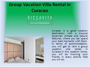 Group vacation villa rental in Curacao