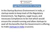 Legal Requirements for a Startup
