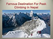 Famous Destination For Peak Climbing In Nepal