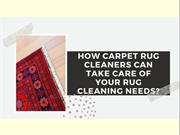 How Carpet Rug Cleaners Can Take Care Of Your Rug Cleaning Needs