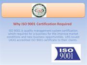 Why ISO 9001 Certification is Necessary
