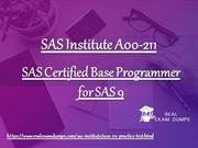 SAS Institute A00-211 Dumps - A00-211 Practice Questions