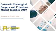 Cosmetic Nonsurgical Surgery and Procedure Market Insights 2019