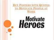Buy Posters with Quotes to Motivate People at Work