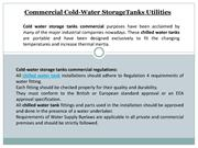 Cold Water Storage tank Commercial