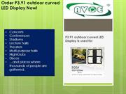 P3.91 outdoor curved LED Display