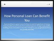 How Personal Loan Can Benefit You