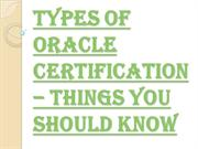 OCA - Oracle Certified Associate as a Part of Oracle Certification