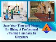 Save Your Time and Money By Hiring A Professional cleaning Company In