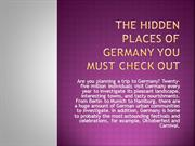 The Hidden Places Of Germany You Must Check Out