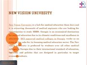 Get MBBS Admission in New Vision University PPt
