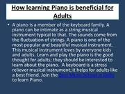 How learning Piano is beneficial for Adults