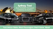 Book a Taxi in Sydney for Sydney Arport transfer