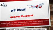 Best Services Offered By Airlines Helpdesk
