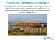 Advantages of scaffolding in construction