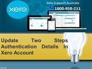 Update Two Steps Authentication Details In Xero Account