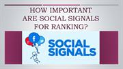 How Important Are Social Signals For Ranking