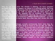 A Talk on Climate Change