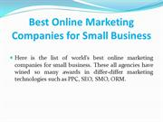 Best Online Marketing Companies for Small Business