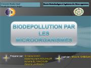 POLLUTION ET BIOREMEDIATION