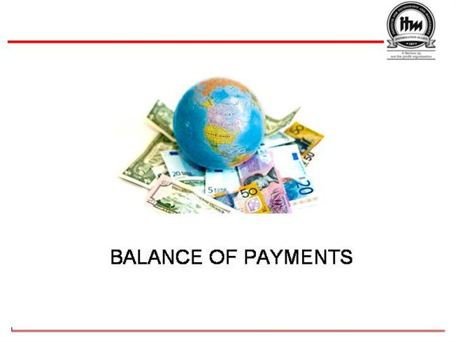 balance of payments The balance of payments 'bop' is an account of all transactions between one country and all other countries--transactions that are measured in.
