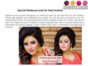 Special Makeup Look for Teej Festival