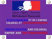French states ,empire, and francophone