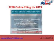 IRS Form 2290 Online Filing for 2019