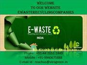 e waste recycling companies in Tamil Nadu