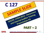 PPT Presentation on ISO 17024 requirements