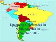 Upcoming Conferences in South America in September, 2019