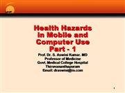 ULF - Health Hazards of Mobling and  Com