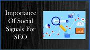 Importance Of Social Signals For SEO