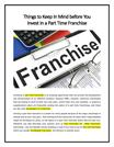 [FRANCHISE TIPS] 4 Things to Know Before You Invest in Franchises