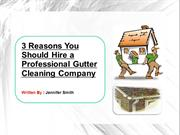 Why hire Gutter Cleaning Company-Gutter installation service