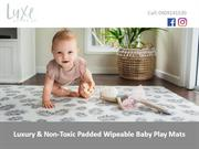 Luxury & Non-Toxic Padded Wipeable Baby Play Mats