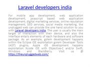 Laravel developers india