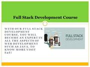 Full Stack Development Course