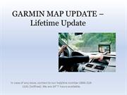 GARMIN MAP UPDATE – Lifetime Update