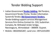 Tender Bidding Support